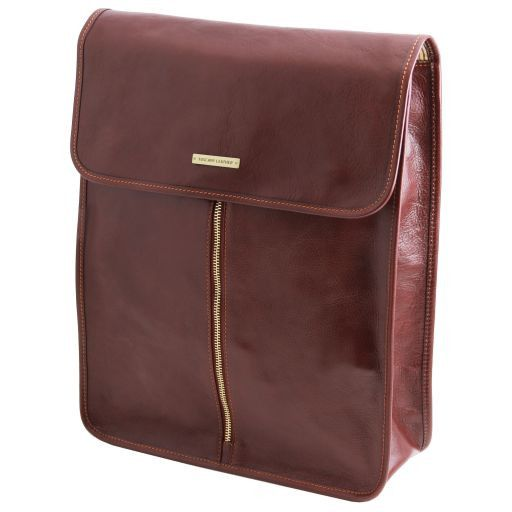 Exclusive leather shirt case Dark Brown TL141307