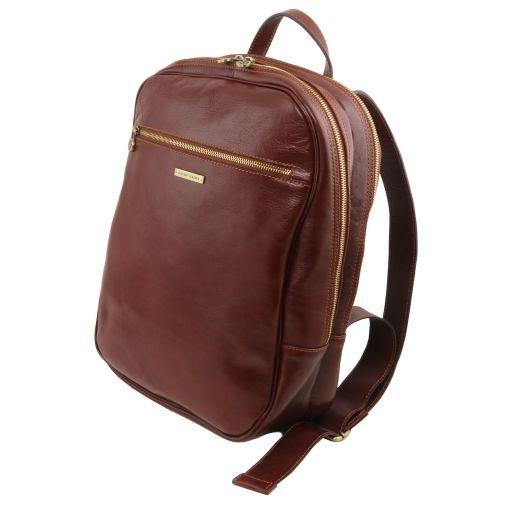 Osaka Zaino porta notebook in pelle Rosso TL141308