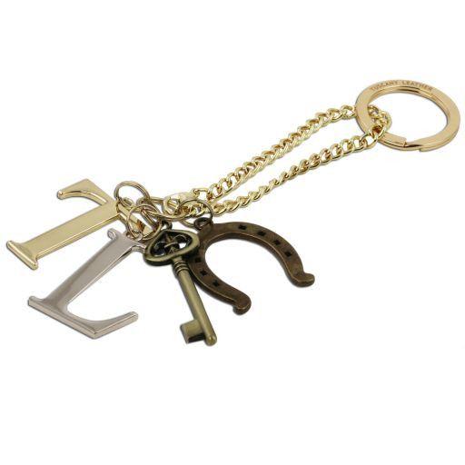 TL KeyLuck Borsa a mano in pelle Saffiano con due manici Rosso TL141316