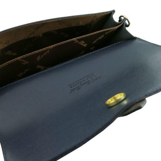 TL Bag Pochette in pelle Saffiano con tracolla sganciabile Nero TL141317