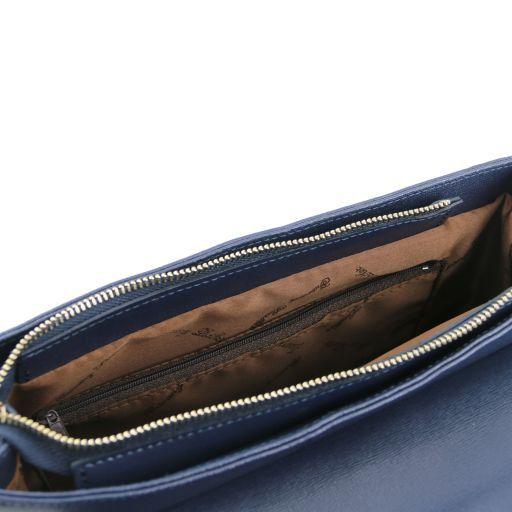 TL Bag Borsa a mano in pelle Saffiano e tracolla staccabile Corallo TL141318