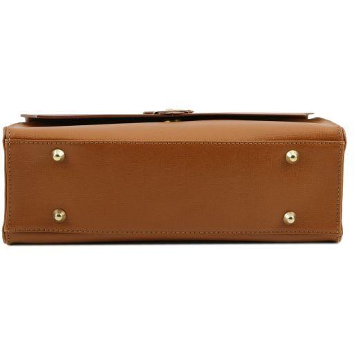 TL Bag Borsa a mano in pelle Saffiano e tracolla staccabile Talpa scuro TL141318