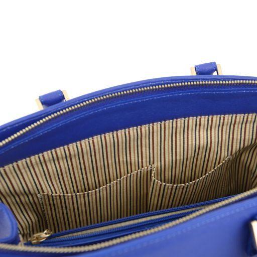 TL KeyLuck Borsa a mano con tasca frontale in pelle Saffiano Nero TL141323