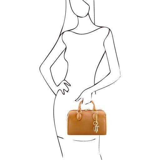 TL Keyluck Bauletto Tasche aus Saffiano Leder Cognac TL141364