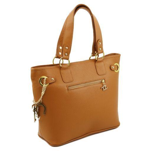 TL KeyLuck Citybag con dettagli color oro Cognac TL141365