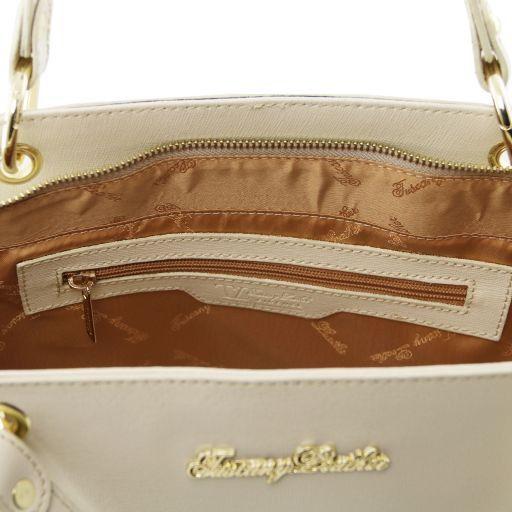 TL Bag Borsa shopper in pelle Saffiano con doppi manici Ottanio TL141366