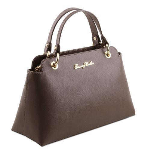 TL Bag Borsa a mano in pelle Saffiano con due manici Testa di Moro TL141367