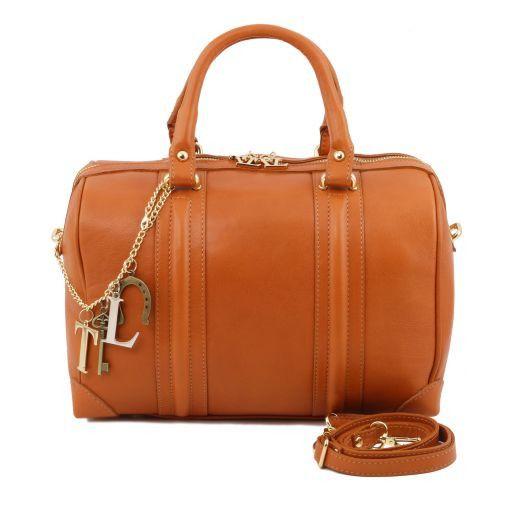 TL KeyLuck Bauletto in pelle morbida con accessori color oro Rosso TL141403