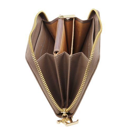 Esclusivo portafogli donna in pelle Saffiano a 3 scomparti con zip Ottanio TL141461