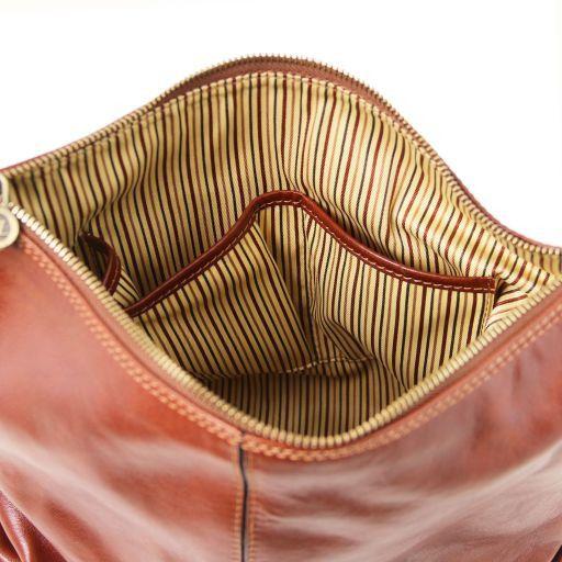 Sabrina Leather hobo bag Brown TL141479