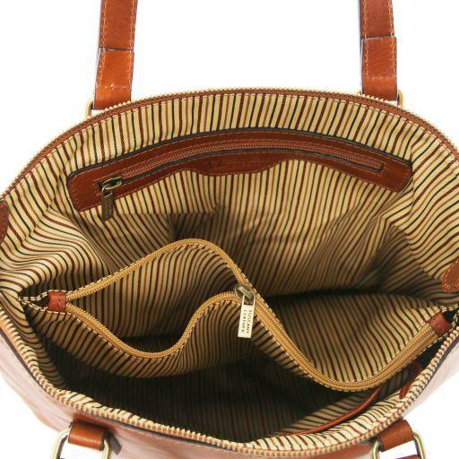 Olga Shopper Tasche aus Leder - Gross Schwarz TL141484