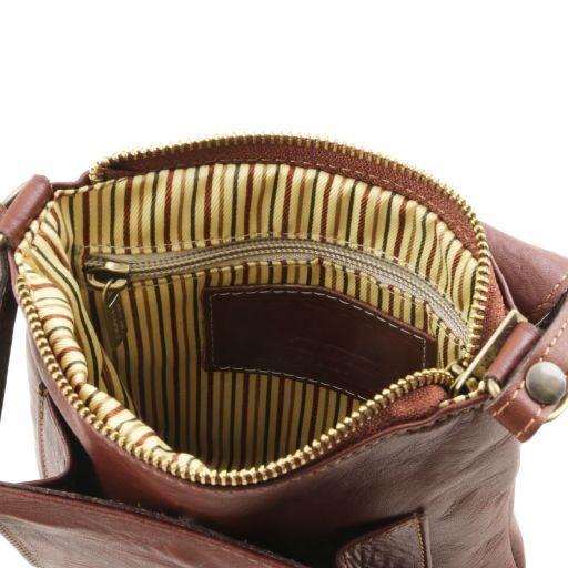 Sasha Bolso unisex en piel suave Cognac TL141510