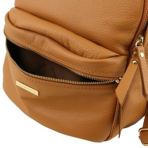 TL Bag Soft leather backpack for women Cognac TL141532
