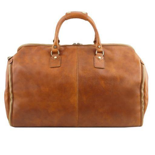 Antigua Travel leather duffle/Garment bag Dark Brown TL141538