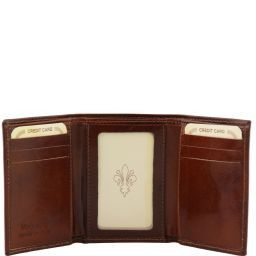 Esclusivo portafoglio in pelle Nero TL140801