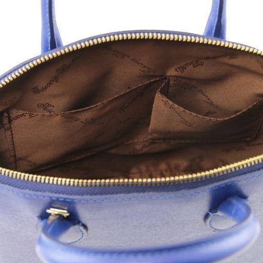TL KeyLuck Borsa shopper in pelle Saffiano - Misura piccola Beige TL141579