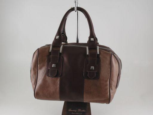 Asia Leather handbag Dark Taupe TL140822