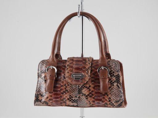Brenda Damentasche aus echtem Pythonleder Braun TL140836