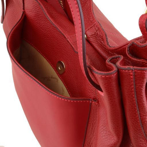 Cinzia Soft leather shopping bag Red TL141515