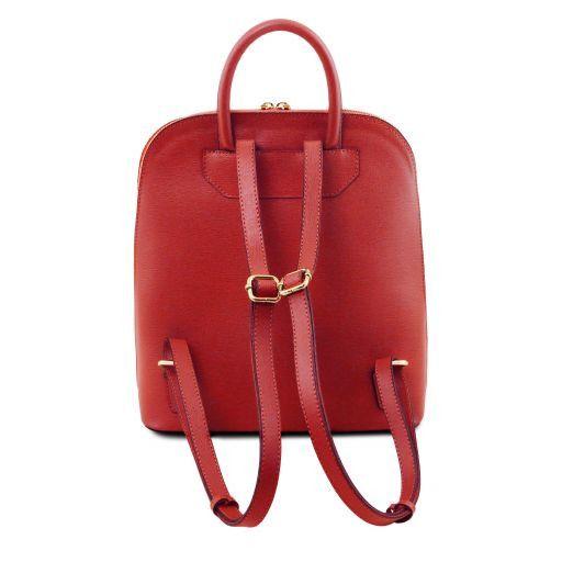 TL Bag Zaino donna in pelle Saffiano Rosso TL141631