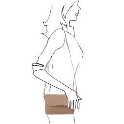 TL Bag Pochette in pelle Talpa scuro TL141584