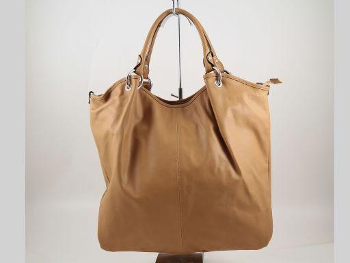 Nina Borsa Shopper in pelle nappata Cognac TL140893