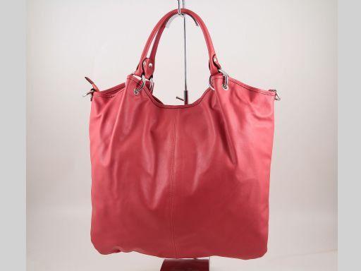 Nina Borsa Shopper in pelle nappata Rosso TL140893