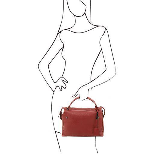 TL Bag Bauletto in pelle morbida Rosso TL141629