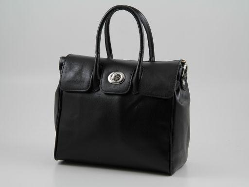 876cb21dbaa51 Erika Damenhandtasche aus Leder - Klein Schwarz TL140926 ...
