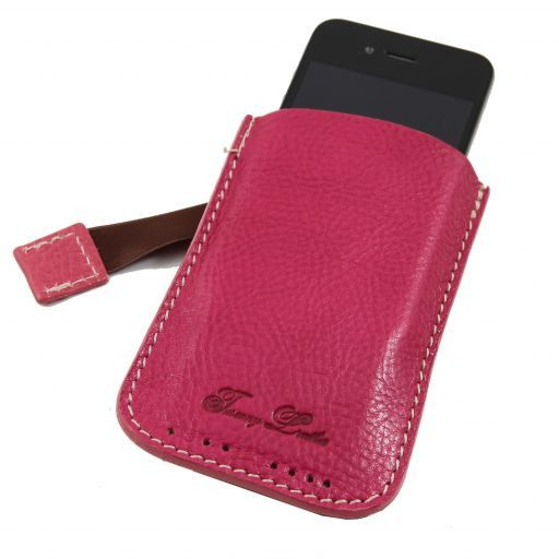 Leather iPhone3 iPhone4/4s holder Fucsia TL140927