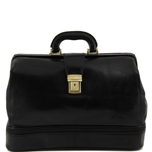 Caravaggio Trousse de medecin en cuir Noir TL140951