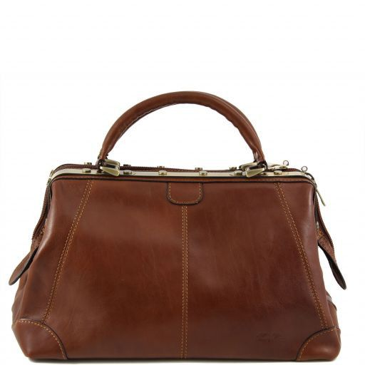 Donatello Doctor leather bag - small size Brown TL140958