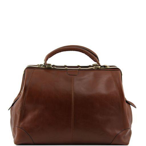 Donatello Doctor leather bag - Large size Коричневый TL140959