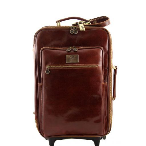 Honolulu Valise verticale en cuir Marron TL3069