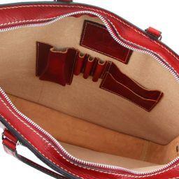 Alba Maletín en piel con un compartimento Rojo TL140961