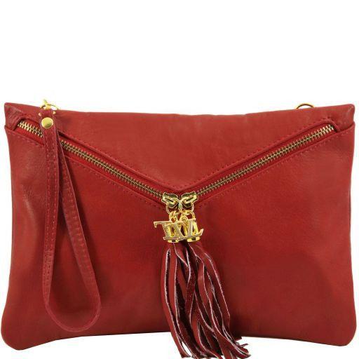 Audrey Кожаный клатч Dark red TL140988