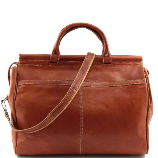 Manchester Travel leather bag - Large size Honey TL141003