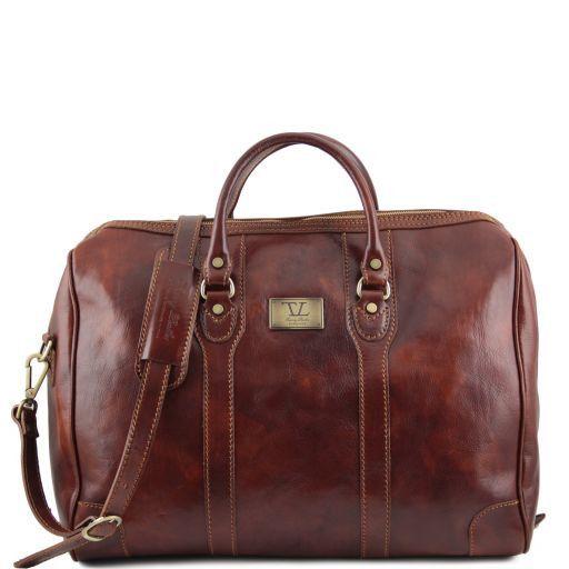 Lussemburgo Дорожная кожаная сумка Коричневый 141024