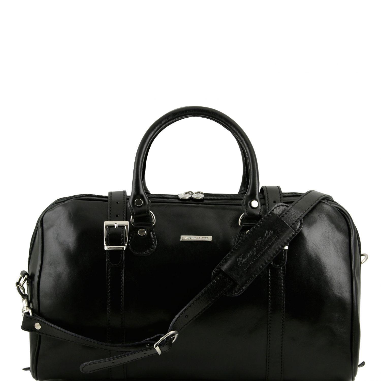 Tuscany Leather - Berlin - Sac de voyage en cuir avec boucles - Grand modèle - Marron foncé- Homme FSyTgf2dJu