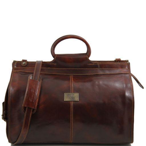 Bratislava Weekend Travel leather bag Brown TL141041