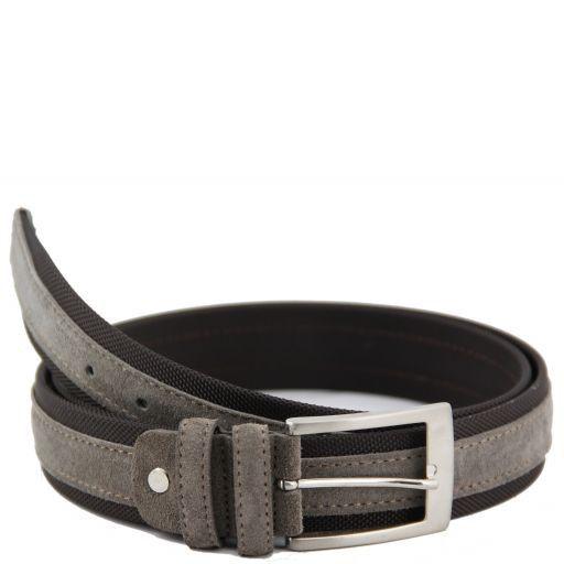 Cintura in tela e camoscio Talpa chiaro TL141074