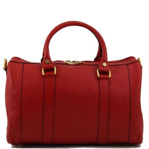 """TL Bag Sac à main en cuir """"Bauletto"""" Rouge TL141079"""