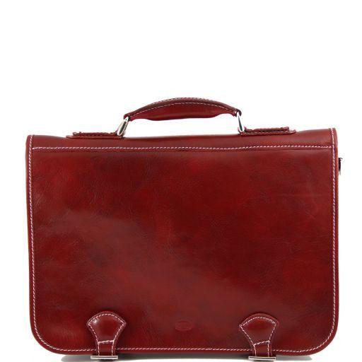 Ancona Cartella in pelle - Misura piccola Rosso TL141085