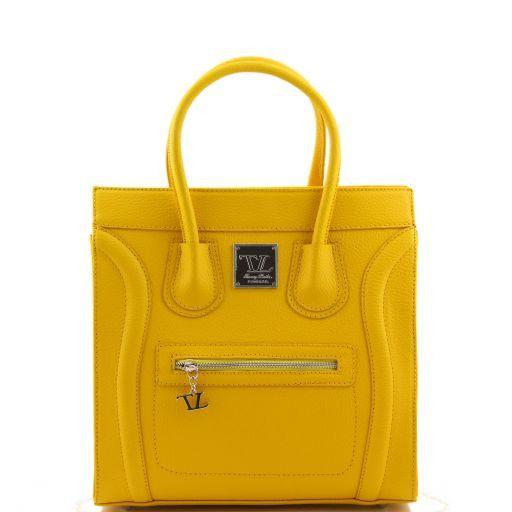 TL Bag Textured leather handbag Yellow TL141090