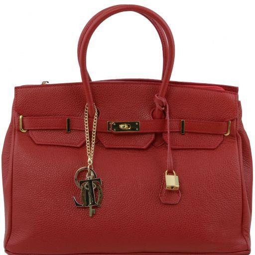 TL KeyLuck Borsa a mano media con accessori oro Rosso TL141092