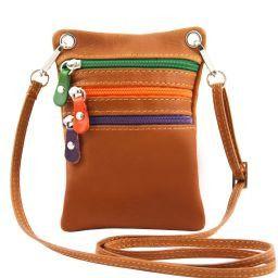 TL Bag Soft leather mini cross bag Cognac TL141094