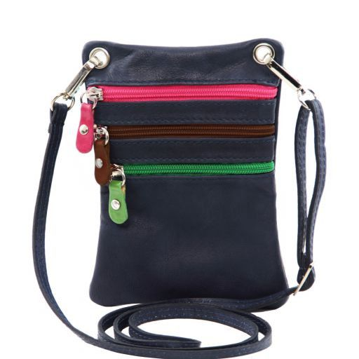 TL Bag Soft leather mini cross bag Dark Blue TL141094