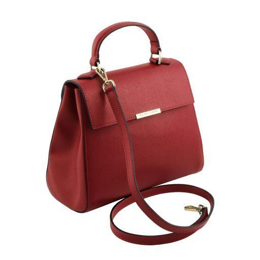 TL Bag Bauletto piccolo in pelle Saffiano Rosso TL141628