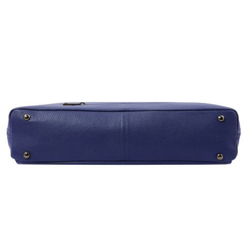 Lucca Borsa business TL SMART in pelle morbida per donna Blu scuro TL141630