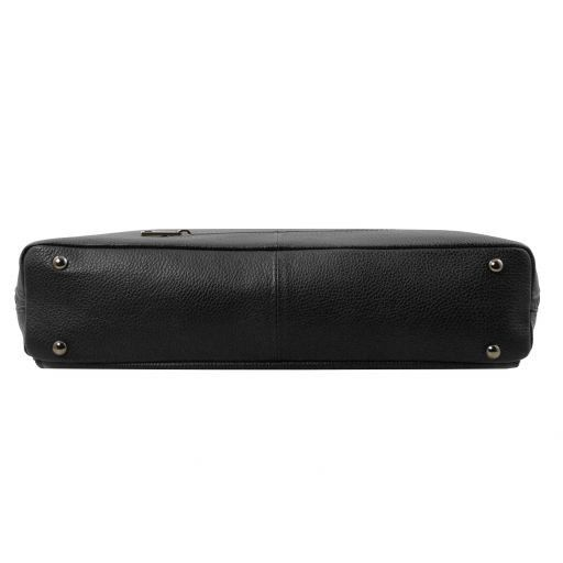 Lucca TL SMART business bag in soft leather for women Black TL141630
